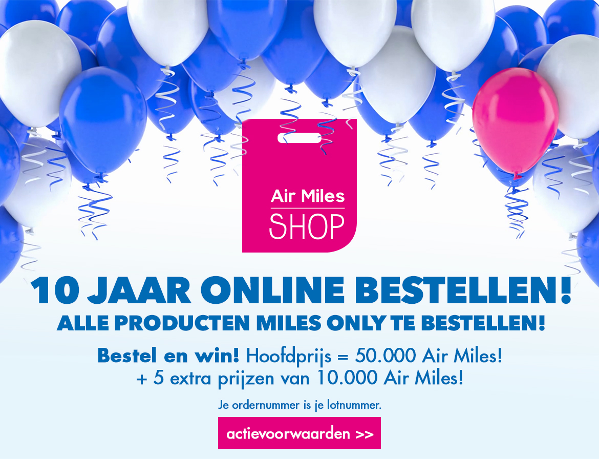 HP banner - Shop & Winactie: 10 jaar Air Miles Shop