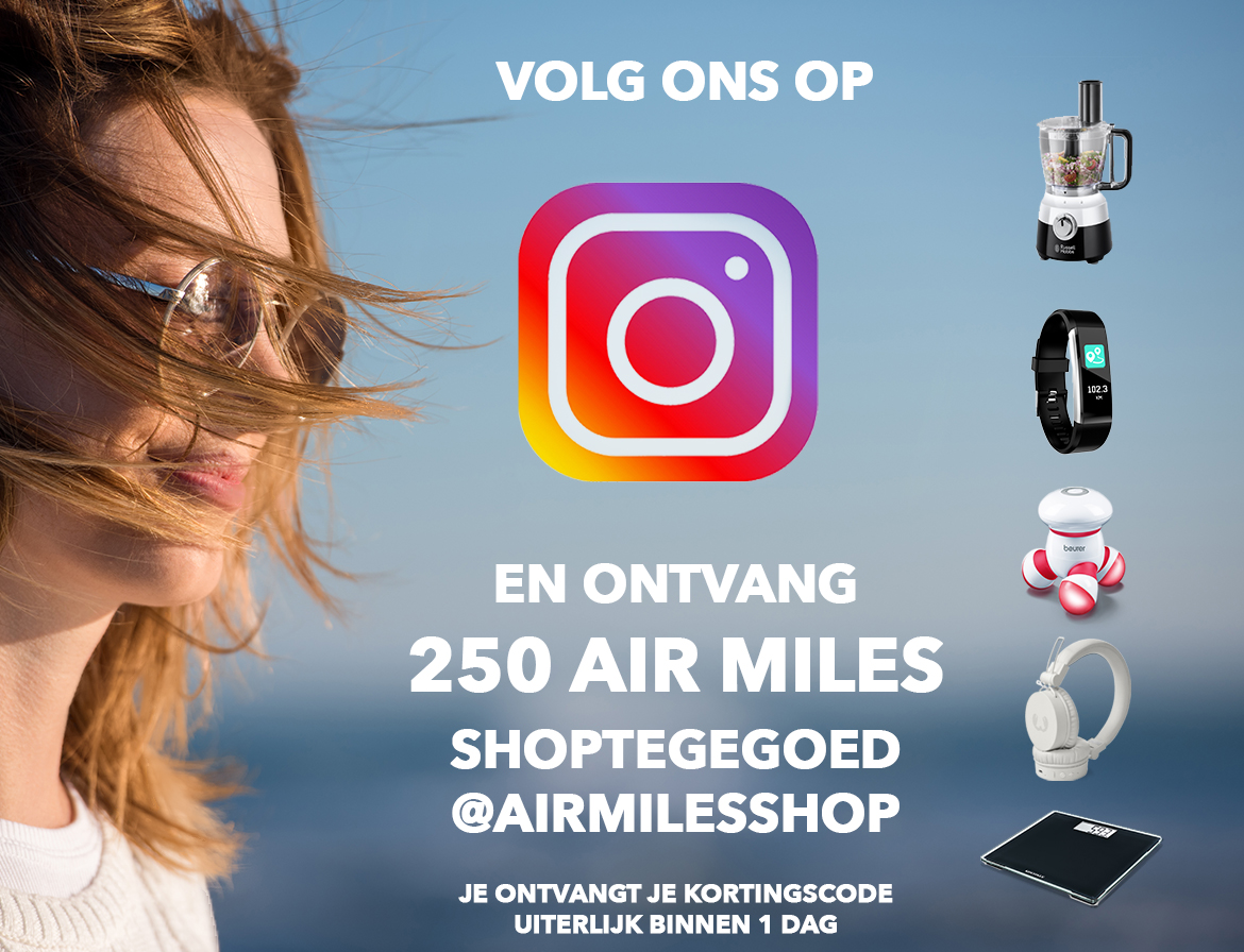 HP banner - Air Miles Shop op Instagram