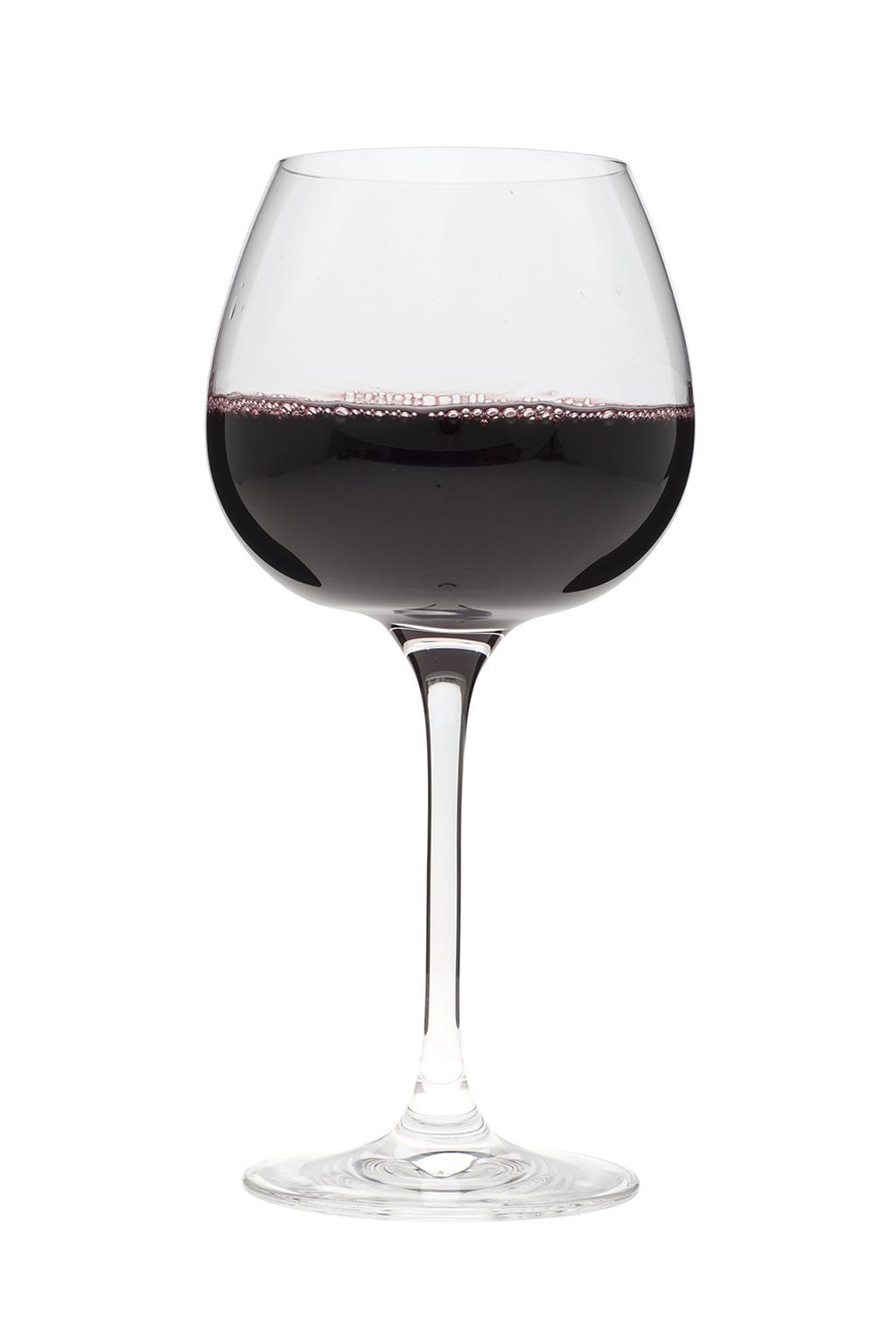 VILLEROY & BOCH Set van 4 rode wijnglazen 'Purismo'