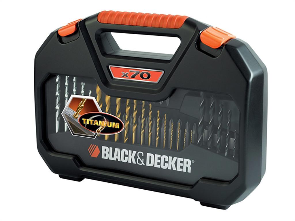 BLACK & DECKER 70-delige boor/bit-set