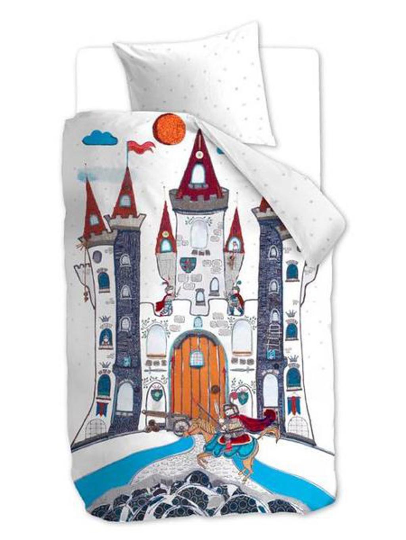 BEDDINGHOUSE Kinderdekbedovertrek 'Dragon Castle Grey'